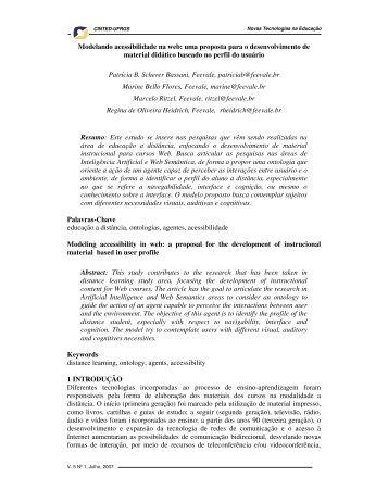 Modelando acessibilidade na web: uma proposta para ... - cinted/ufrgs