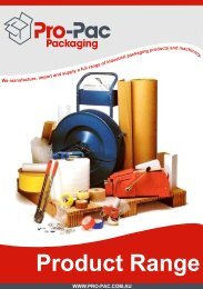 Product Range - Pro-Pac Packaging
