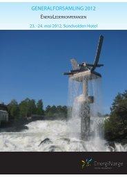 Program Generalforsamlingen og ... - Energi Norge