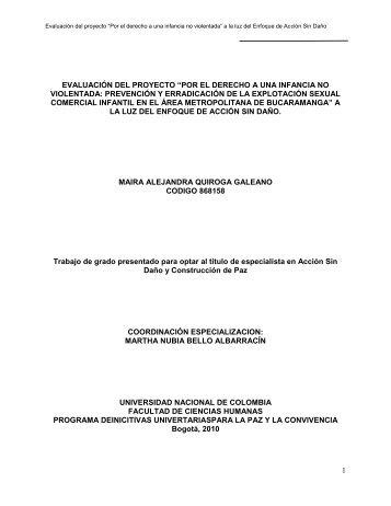 """1 evaluación del proyecto """"por el derecho a una infancia ... - Bivipas"""