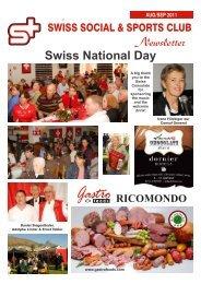 AUG/SEP 2011 Swiss National Day - Swiss Social & Sports Club
