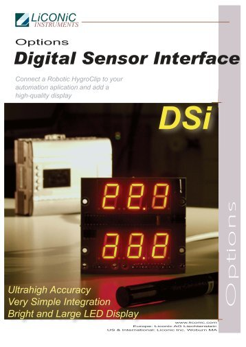 Digital Sensor Interface - LiCONiC Instruments