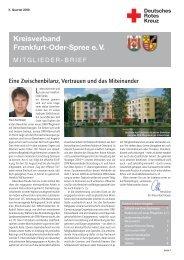 Wiosna – Frühling 2008 - DRK Kreisverband Märkisch Oder Spree eV