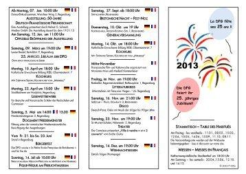 La DFG fête Die DFG feiert ihr 25. jähriges Jubiläum!! - Deutsch ...