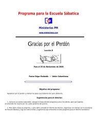 Programa de Escuela Sabatica - Ministerios PM