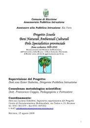 proposte disciplinari a.s. 2009-2010 - Comune di Riccione