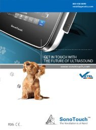 to see the full SonoTouch Vet brochure - Vetel Diagnostics