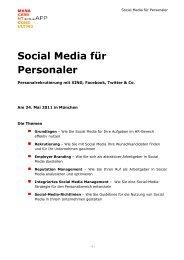 Social Media für Personaler - Sonja App Management Consulting