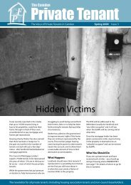 Spring Issue - Camden Federation of Private Tenants