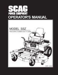 Download Manual - Scag Power Equipment