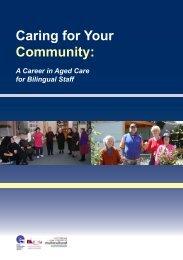 Certificates III in Aged Care - Ethnic Communities Council of Victoria