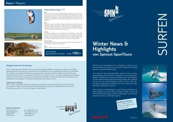 Winter News & Highlights von Spinout SportTours Kenia