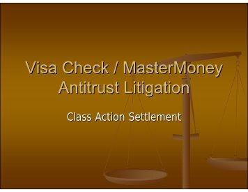 Visa Check/MasterMoney Antitrust Litigation – Barbara Kawamoto