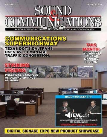 Sound & Communications February 2009 Issue