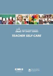 Tipsheet: Teacher self-care - University of Queensland