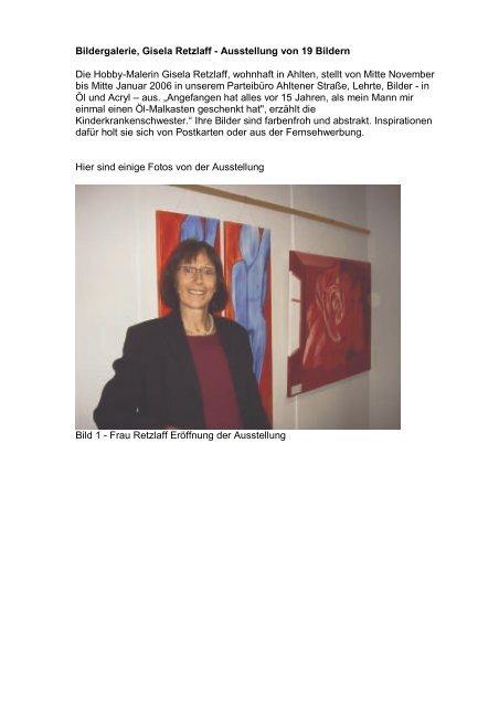 Bildergalerie, Gisela Retzlaff - Ausstellung von 19 Bildern Die ...