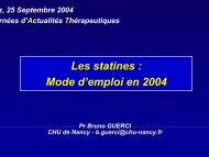 Les statines : Mode d'emploi en 2004 - ammppu