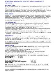 PASSAGGIO DI PROPRIETA - Network Uffici Provinciali ACI