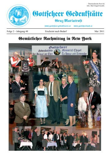 Weitere wichtige Gottscheer Veranstaltungen 2011