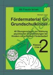 Fördermaterial für Grundschulkinder 2