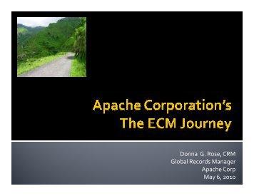 Case Study - Apache Corporation's ECM Journey - AIIM