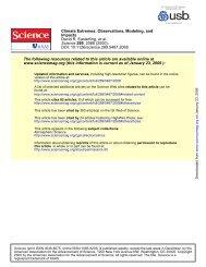 Journal article in Science that reviews scientific understanding of ...