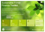 Sustainable Forest Finance Toolkit - PwC