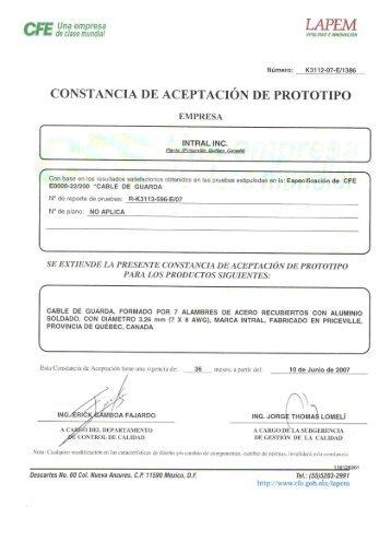 CONSTANCIA DE ACEPTACIÓN DE PROTOTIPO