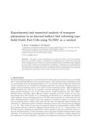 Experimental and numerical analysis of transport phenomena in an ...