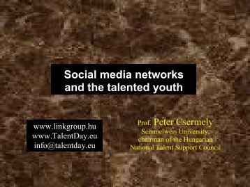 Social media networks and the talented youth