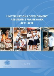united nations development assistance framework 2011-2015
