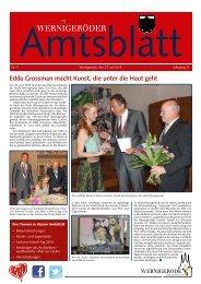 Amtsblatt Stadt Wernigerode 07 - 2013 (4.45 MB)