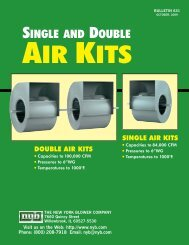 Single and Double Air Kits - New York Blower