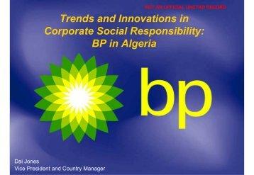 BP in Algeria - Unctad XI