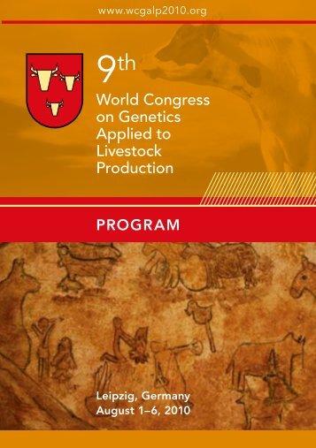 Program booklet for download - wcgalp2010