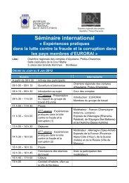 Séminaire international « Expériences pratiques dans ... - Eurorai.org