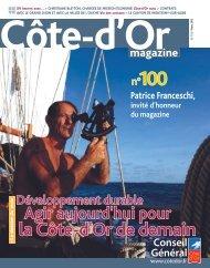 Télécharger Côte-d'Or Magazine n°100 - Mars 2010 en PDF
