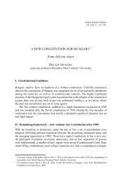 A NEW CONSTITUTION FOR HUNGARY* Some delicate issues - IAS