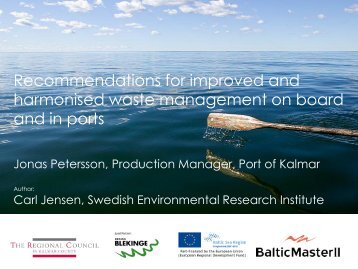 2_Recommendations for improved and harmonised ... - Baltic Master