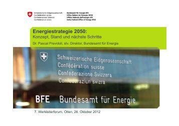 Energiestrategie 2050: - DSV