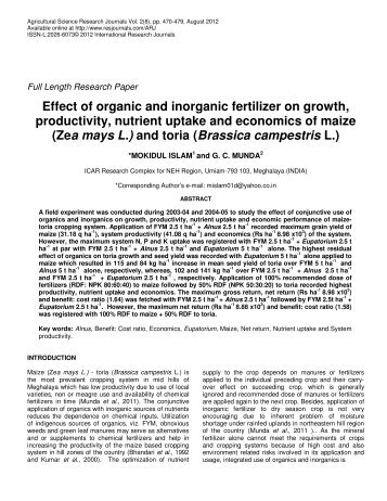 the effects of organic and inorganic fertilizer Residual effect of three different doses of inorganic fertilization (i-max, i-mid, i-min) and organic fertilization (o-max, o-mid, o-min) applied to lettuce plants in three successive crop seasons on the soil-n availability (a), on the soil-p availability (b) and on the soil-k availability (c.