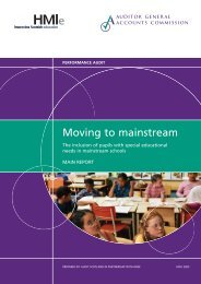 Moving to mainstream (PDF | 986 KB)Opens in new ... - Audit Scotland