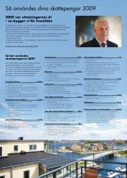 Så användes dina skattepengar 2009 - Karlskrona kommun