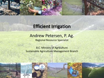Ifficient Irrigation
