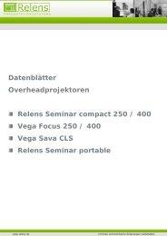 Datenblätter Overheadprojektore Relens Seminar co Vega Focus ...