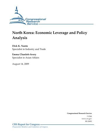 North Korea: Economic Leverage and Policy Analysis