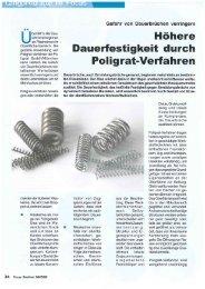Focus Rostfrei - Höhere Dauerfestigkeit durch ... - POLIGRAT GmbH