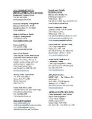 referral directory of local professionals - Dave & Cindy Walker