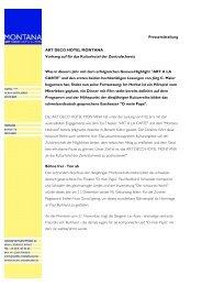 Pressemitteilung ART DECO HOTEL MONTANA Vorhang auf für ...