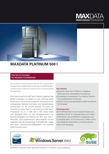 MAXDATA PLATINUM 500 I